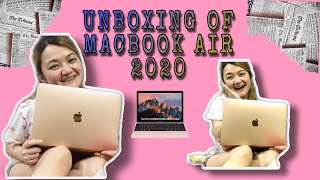 UNBOXING MACBOOK AIR 2020 | IssaySassa #macbookair2020