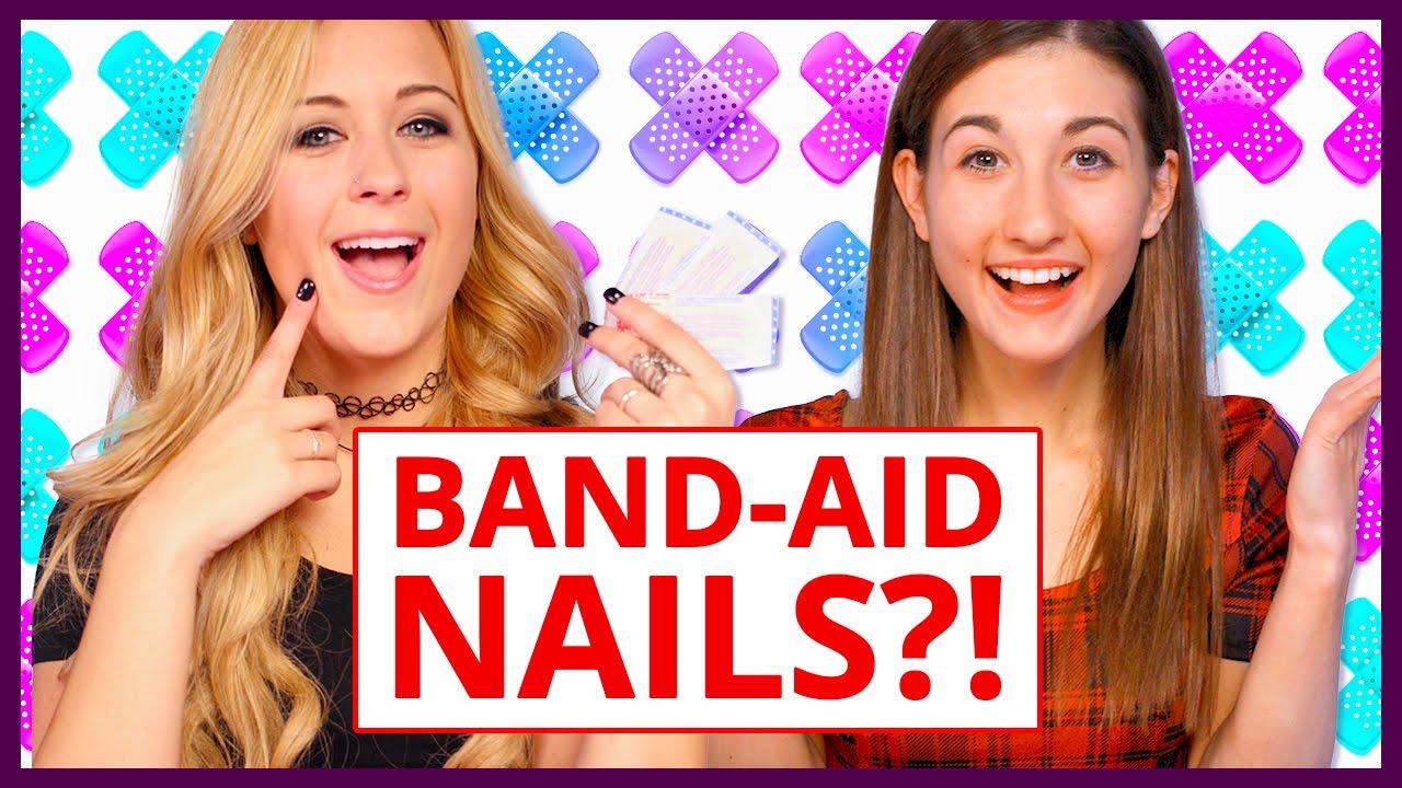 Band Aid Nail Art Makeup Mythbusters W Maybaby And