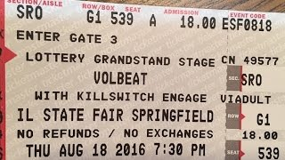 Volbeat - Goodbye Forever - Live HD @ Illinois State Fair, 8/18/2016