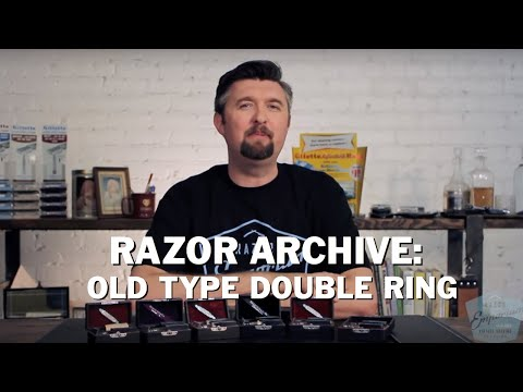 Razor Archive Gillette Old Type Series: Double Ring Safety Razor
