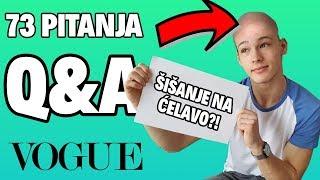ŠIŠAM SE NA ĆELAVO?! (nije clickbait) | 73 pitanja | Bruno Lukić