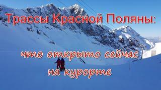 Трассы курорта Красная Поляна состояние что открыто После снегопада стало лучше