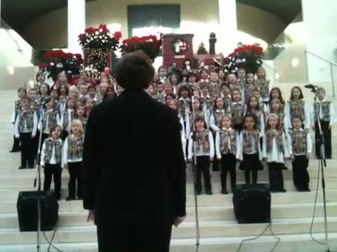 Holyrood junior choir at City Hall Edmonton