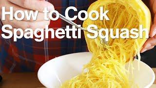 How to Perfectly Cook and Cut a Spaghetti Squash (Baked Whole Spaghetti Squash)