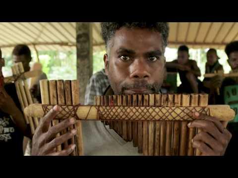 Panpipe in Oterama Village // Solomon Islands