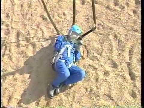 Astronaut  Training - Parachute - Ejection Seat - Nasa - Best Shot Stock Footage