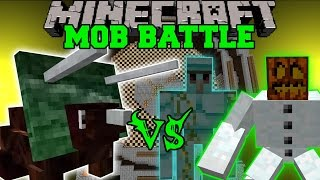 POINTYSAURUS VS EMERALD GOLEM, MUTANT SNOW GOLEM & DINOSAURS - Minecraft Mob Battles - Mods