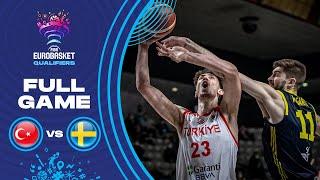 Turkey v Sweden Full Game FIBA EuroBasket Qualifiers 2022