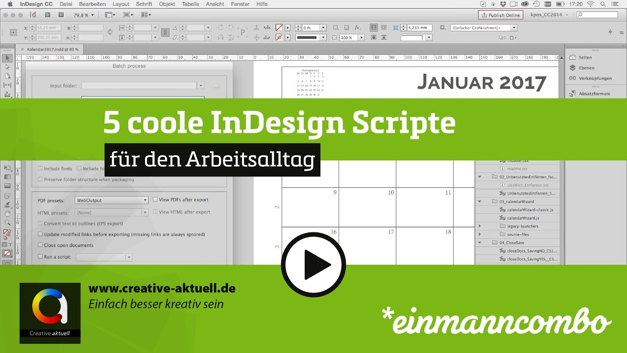 5 coole InDesign Scripte - YouTube