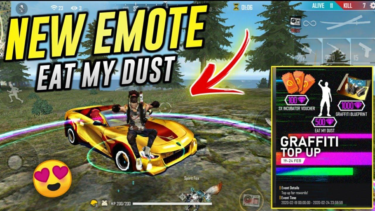Eat My Dust Emote in Free Fire