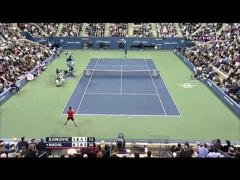 [HD] Rafael Nadal vs Novak Djokovic US OPEN Finals 2013 Match Point