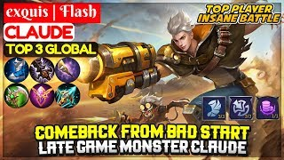 Late Game Monster Claude [ Top Global Claude ] exquis | Flash - Mobile Legends