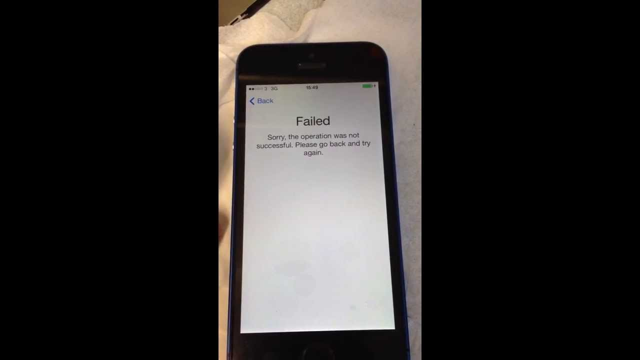 iphone 5s touch id not working touch id failed error on iphone 5s 19330