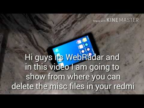 Delete misc files in redmi. No root