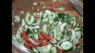 Cucmber,dill, Onion,tomato Vinegarette Olive Oil Salad 2/2 Chef John The Ghetto Gourmet Show
