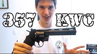 Revolver 357 Black KWC Co2 Full Metal + DICAS de REVOLVER