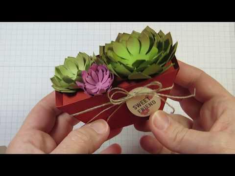 Window Box Project: Paper Succulent Garden Dish