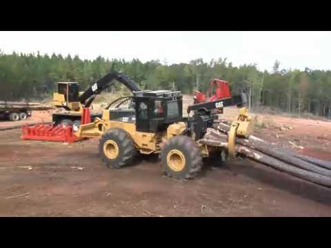 Cat® 525C Wheel Skidder