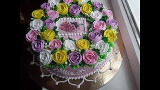 Тортик с розами
