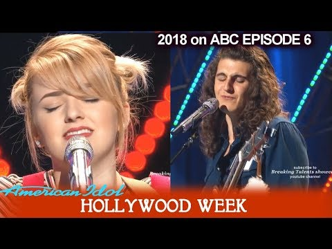 American Idol 2018 Hollywood Week Round 1 Maddie Poppe & Cade Foehner