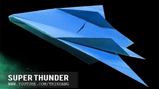 OVER 70 FEET PAPER AIRPLANES - How To Make A Paper Plane That Flies | Super Thunder