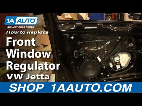 How To Install Replace Front Window Regulator 2005-10 Volkwagen VW Jetta