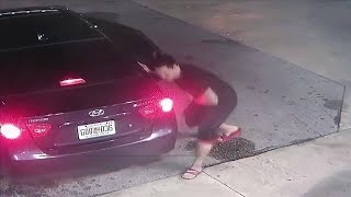 Man shot in stomach while confronting car thief at Miami-Dade gas station