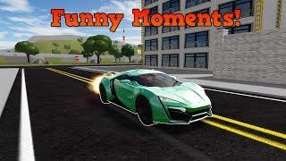 Stunts, Funny moments and glitches V3!   ROBLOX: Vehicle Simulator