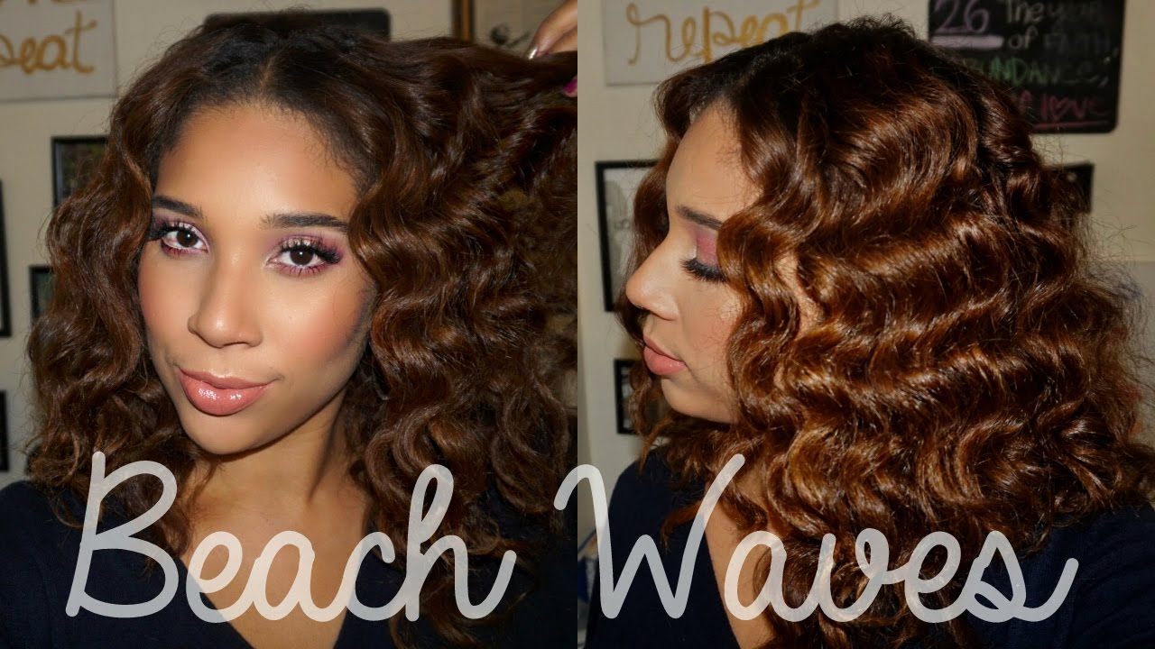 Easy Beach Waves On Natural Hair All Things Ada Youtube