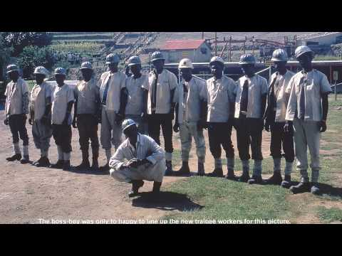 Gold mine workers go as far as 6,000 ft underground in W.R.C.M.  South Africa -1971