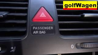 VW Golf 5 how to deactivate passenger airbag and why etc. with key /children in car/