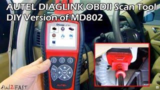 AUTEL DIAGLINK OBDII Diagnostic Scan Tool - DIY Version of MD802