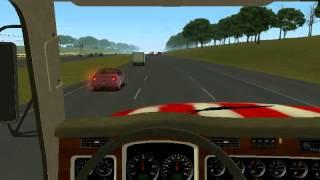 18 Wheels Of Steel Haulin gameplay with genius twin wheel f1 (pc)