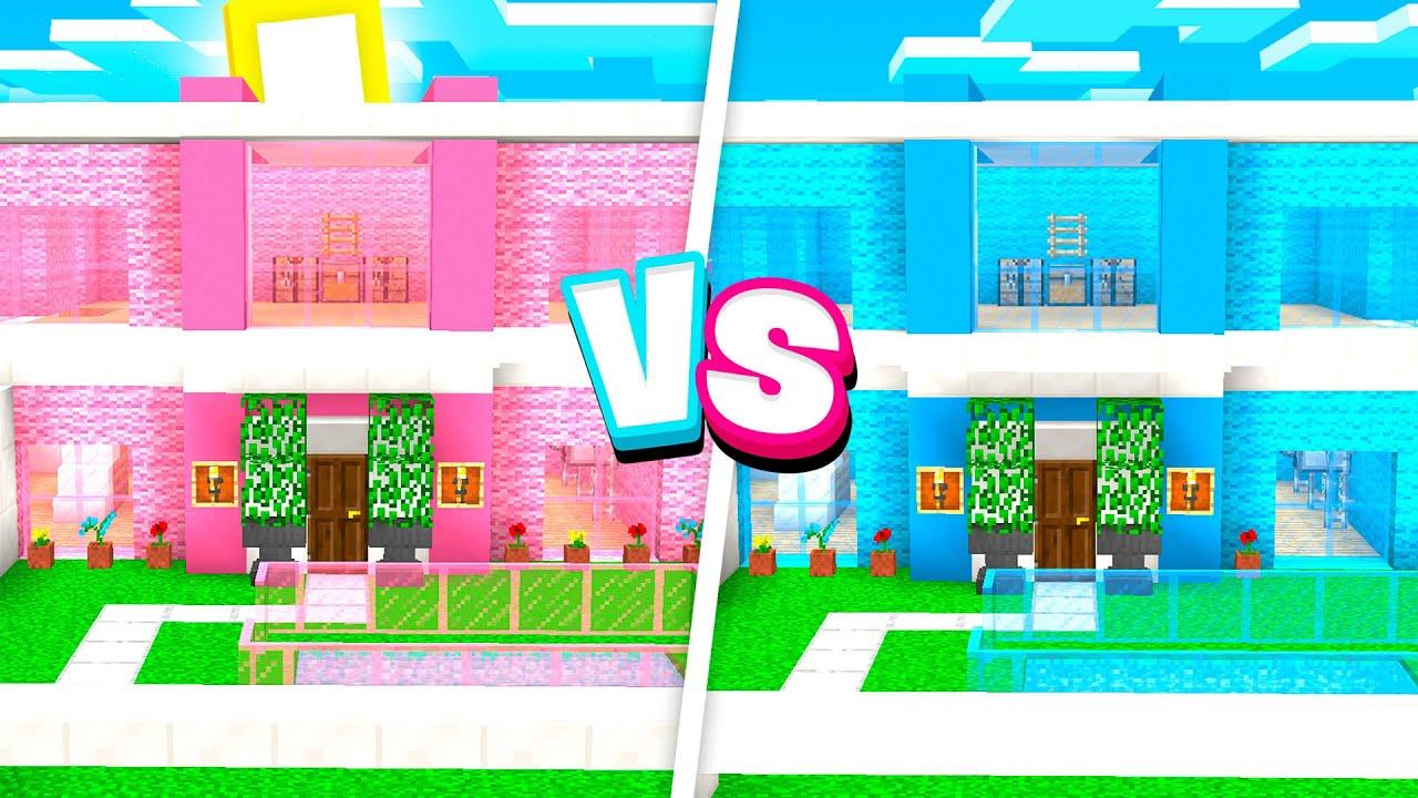 Download CRAZY Boy vs Girl MODDED Minecraft HOUSE Battle!
