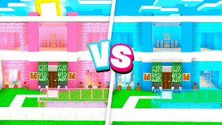 CRAZY Boy vs Girl MODDED Minecraft HOUSE Battle!