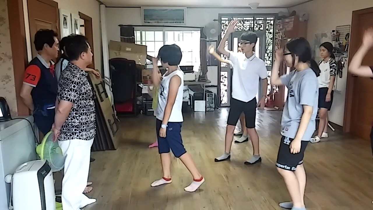 """2016 07 31 정암교회 - """"우리 때문에"""" 찬양율동"""