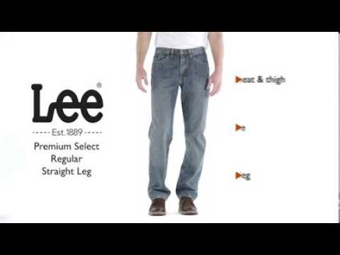 5bc32a19 Lee Jeans - Premium Select Regular Straight Leg Jean - YouTube