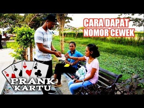 PRANK SULAP KARTU DAPAT NOMOR HP CEWEK - (INDONESIA | PAPUA)