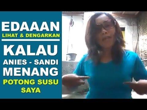 HEBOH... Anies Sandi Menang, Wanita Ini Tepati Janjinya Potong Susu thumbnail