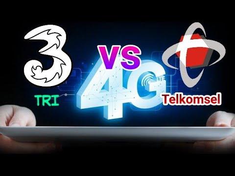 Test Speed Internet 4G Tri vs Telkomsel   Lampung