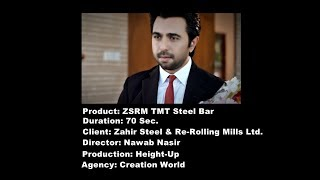 ZSRM TMT Steel Bar TVC 70 Sec.