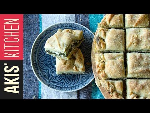 Greek Spinach Pie (Spanakopita) | Akis Kitchen