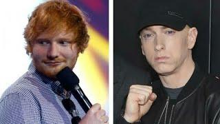 Ed sheeran again appreciates EMINEM in his new Interview 2017