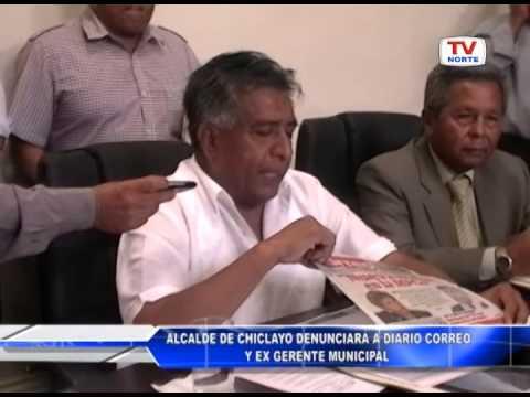 Chiclayo: Alcalde denunciará a diario Correo y a ex gerente municipal 250515