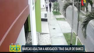 Trujillo: 'marcas' asaltan a abogados tras salir del banco