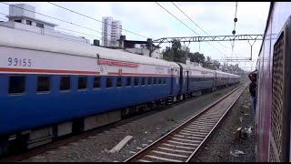 THE GREAT PARALLEL TRAIN RACE - Deccan Queen In Its Best Uniform Livery In A Beautiful Long Coverage