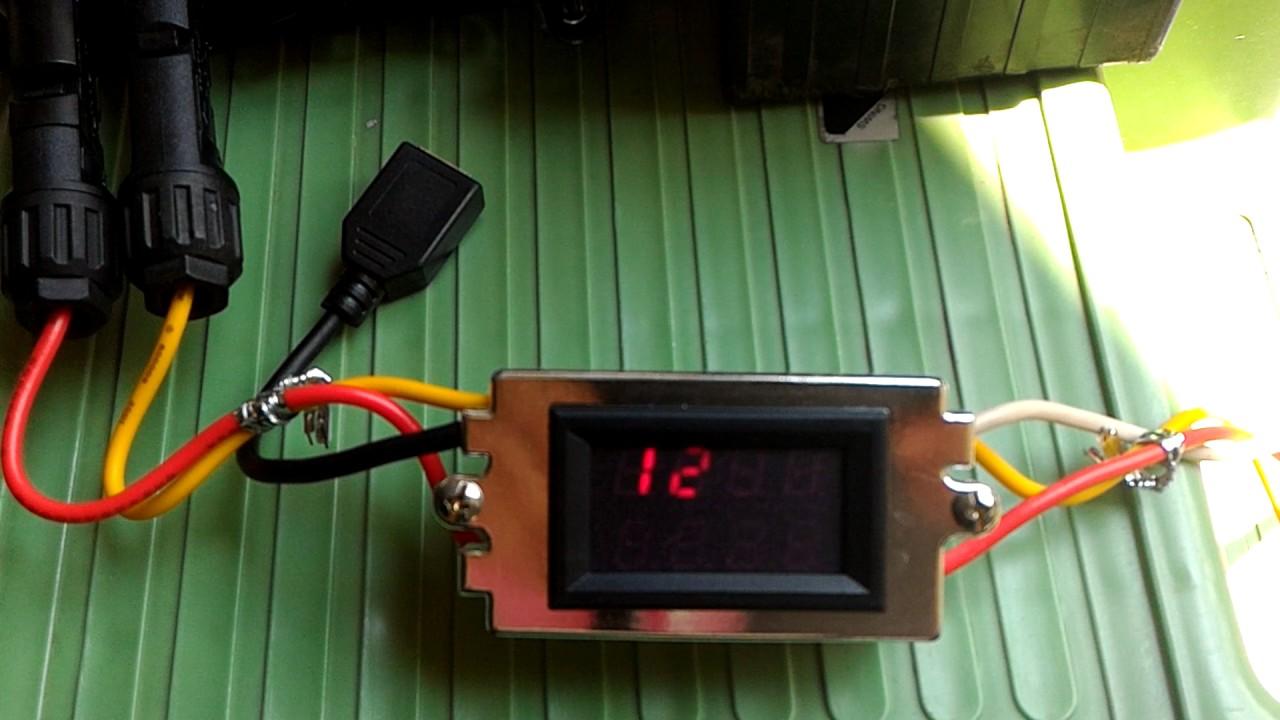 太陽能板50W功率發電量 - YouTube