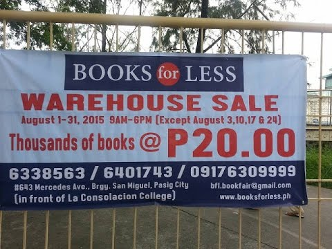 Going to Books for Less Warehouse Pasig