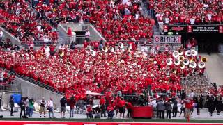 Ohio State Alumni Marching Band Plays Hang On Sloopy with Alumni Conductor 9/13/2014