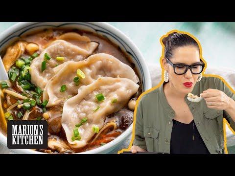 Mushroom Dumpling Hot & Sour Soup ✌️🥟✌️ – Marion's Kitchen